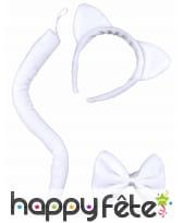 Accessoire pour adulte de chat blanc, image 1