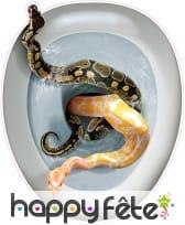 Autocollant pour abattant de wc Main serpents