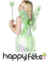 Ailes papillons baguette magique verte