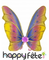 Ailes papillon pastelle multicolores pour enfant