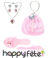 Accessoires rose de petite princesse