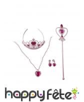 Accessoires rose de princesse pour enfant, image 1