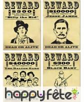 Affiches Reward Western