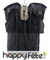 Ange squelette noir lumineux de 110cm