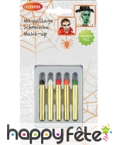 Boite 5 crayons de maquillage halloween