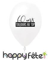 Ballon 60 ans toujours au top en latex, 27 cm