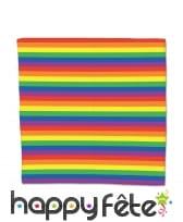Bandana arc-en-ciel en tissu de 56 x 54.5 cm