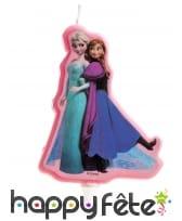 Bougie Anna et Elsa de 8cm, Reine des Neiges
