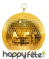 Boule à facettes dorée disco de 20cm