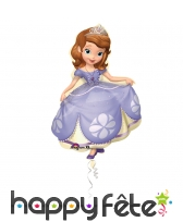 Ballon à gonfler en forme de princesse Sofia