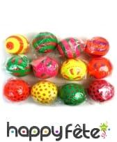 Balle à jongler en caoutchouc multicolore