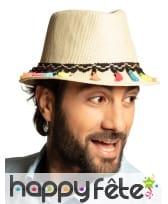 Borsalino avec pompons colorés pour adulte, image 2