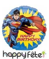 Ballon anniversaire rond de Superman, 43cm