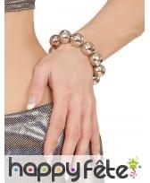 Bracelet boules à facettes disco