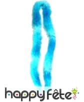 Boa bleu ciel et turquoise de 2m