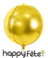 Ballon boule doré de 40 cm en aluminium, image 1