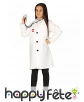 Blouse blanche de médecin pour enfant