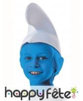 Bonnet blanc de schtroumpf pour enfant