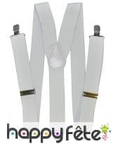 Bretelles blanches de 3,5 c 160 cm