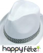 Borsalino blanc en polyester