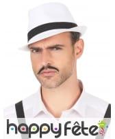 Borsalino blanc entouré d'une bande noire, image 2