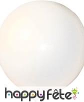 Ballon blanc géant. circonférence 3.5 m