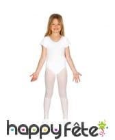 Body blanc manches courtes pour fille