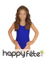 Body bleu pour enfant, sans manches