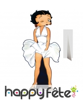 Betty boop robe de marilyn en carton plat