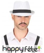 Borsalino blanc rayuré noir, image 2
