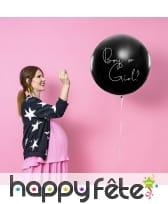 Ballon baby shower avec confettis fille ou garcon, image 1