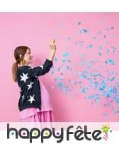 Ballon baby shower avec confettis fille ou garcon, image 2