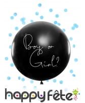Ballon baby shower avec confettis fille ou garcon, image 3