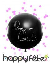 Ballon baby shower avec confettis fille ou garcon, image 4