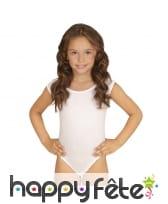 Body blanc sans manches pour enfant