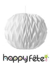 Boule blanche style origami de 37cm, à suspendre