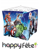 Ballon cube Avengers en action de 38 cm
