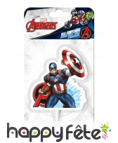 Bougie Captain America de 9,5cm, image 1