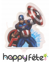 Bougie Captain America de 9,5cm