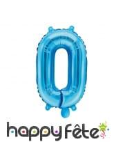 Ballon chiffre bleu de 35 cm, image 1