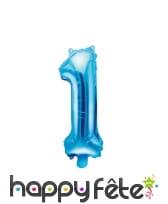 Ballon chiffre bleu de 35 cm, image 2