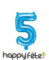 Ballon chiffre bleu de 35 cm, image 6