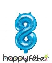 Ballon chiffre bleu de 35 cm, image 9