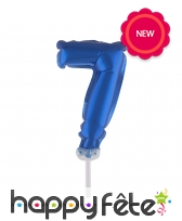Ballon chiffre cake topper bleu foncé de 12cm, image 8