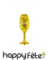 Ballon coupe cheers doré de 80 cm
