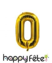 Ballon chiffre doré de 85 cm, image 1