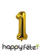 Ballon chiffre doré de 85 cm, image 2