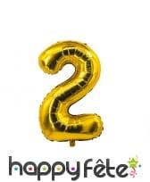 Ballon chiffre doré de 85 cm, image 3