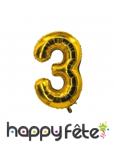 Ballon chiffre doré de 85 cm, image 4
