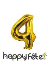 Ballon chiffre doré de 85 cm, image 5